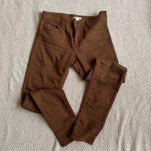 H&M Super Slim Fit Pants-Brown